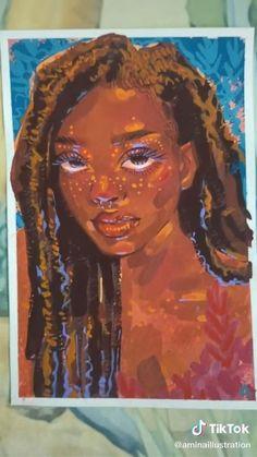 Guache, Art Drawings Sketches Simple, Diy Canvas Art, Drawing Techniques, Art Sketchbook, Art Tutorials, Oeuvre D'art, Cute Art, Art Inspo