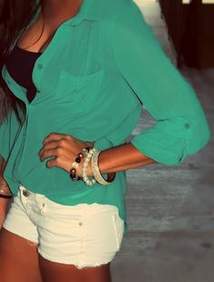 love the teal top!!