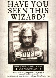 Poster Sirius Black, Have You Seen This Wizard?