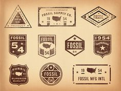 Old Fossil Badges & Seals  by Jonathan Schubert