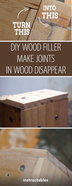 Make Joints in Woodworks Disappear - DIY Wood Filler  #woodworking