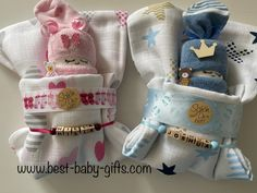 2 diaper babies each in a