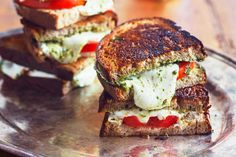 Recipe: Caprese Grilled Cheese   Kitchn