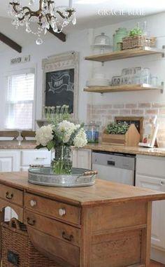 Vintage Farmhouse Kitchen Island Inspirations
