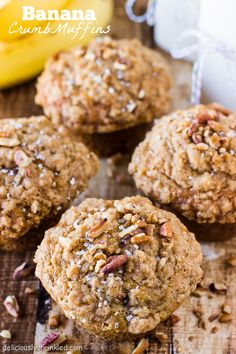 Homemade Banana Crumb Muffins on Deliciously Sprinkled