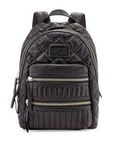 Domo Biker Leather Backpack, Black by MARC by Marc Jacobs at Neiman Marcus.