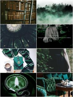 My third slytherin collage! All my original!