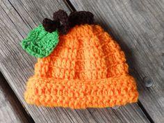 Newborn Pumpkin Hat crochet handmade all sizes by Wenterfarms