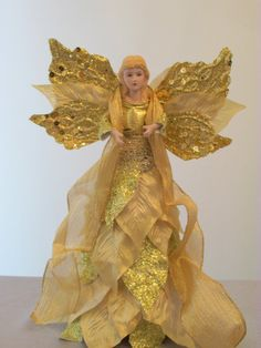 Beautiful Gold Angel Tree Topper