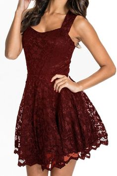 Chase Secret Women's Lace Party Fit-and-Flare Skater Dress
