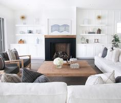 Loving this white on white living room by Blackband Design.