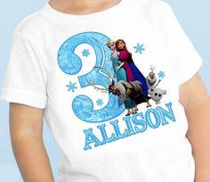 Frozen Birthday personalized t-shirt shirt on Etsy, $12.00