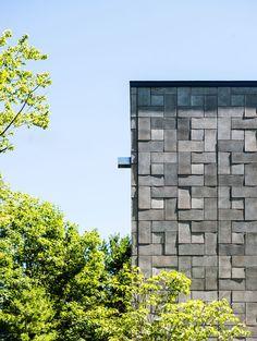 modern exterior by Kariouk Associates via Houzz .....CMU concrete masonry unit.....nice article on it's uses...crl