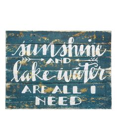 Teds Wood Working - Sunshine and Lake Water Sign - Gin Creek Kitchen … - Get A Lifetime Of Project Ideas & Inspiration! Lake House Signs, Lake Signs, Beach Signs, Cabin Signs, Cottage Signs, Lake Quotes, Gin, Lake Decor, Water Walls