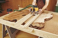 Ah! E se falando em madeira...: tecnica: How to Work With Natural-Edge Slabs