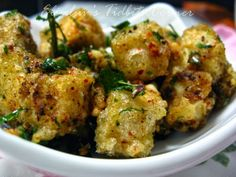 Kusina Master Recipes: Hot and Spicy Street Food Tofu Tofu Recipes, Vegetarian Recipes, Oil For Deep Frying, Street Food, Cauliflower, Fries, Spicy, Grilling, Chicken