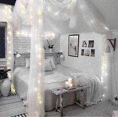 45 romantic and elegant bedroom decor ideas you will love 36 Cute Bedroom Ideas, Cute Room Decor, Room Ideas Bedroom, Girl Bedroom Designs, Small Room Bedroom, Home Decor Bedroom, Girls Bedroom, Diy Bedroom, Trendy Bedroom