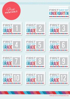 Get the kids excited for their first day back to school with these Free Printable First Day of School signs. Includes Kindergarten to grade 12.