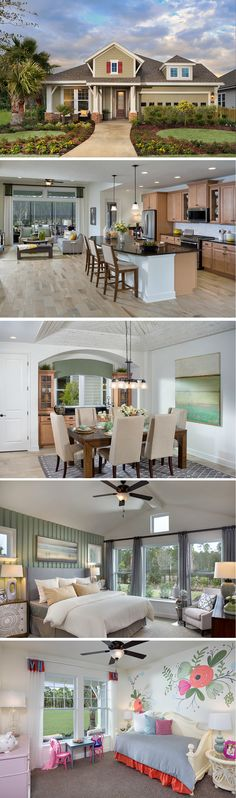 The Bartram is located in Ponte Vedra, FL in the Timberland Ridge community. With dimensional flooring and textured walls, this single-story beauty offers the best in design! #Jacksonville #ranchstyle #sightlines