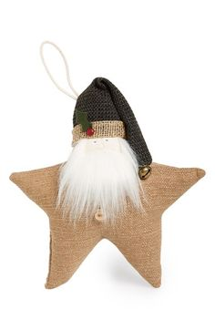 Woof & Poof Santa Star Decoration available at #Nordstrom