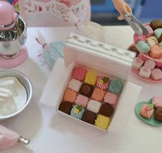 Sweet Petite Box of Play Scale Petit Fours by SweetPetiteShoppe