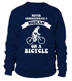 # bicycle bicycling cycling Cycle cyclist bike biking biker ride T Shirt .  Never underestimate a woman on a bicycle T-ShirtHOW TO ORDER:1. Select the style and color you want: 2. Click Reserve it now3. Select size and quantity4. Enter shipping and billing information5. Done! Simple as that!TIPS: Buy 2 or more to save shipping cost!This is printable if you purchase only one piece. so dont worry, you will get yours.Guaranteed safe and secure checkout via:Paypal | VISA | MASTERCARD