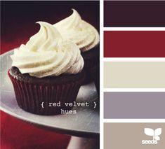 Red Velvet hues!  Color palette for cube decorations