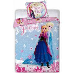 Frost junior sengetøj med Anna og Elsa i 100% bomuld
