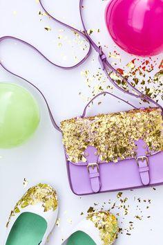 DIY Confetti Dipped Accessories with Martha Stewart Crafts Decoupage #marthastewartcrafts #12monthsofmartha