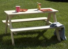 Wood Picnic Bench Kids Wooden Outdoor Garden Toddler Play Table Patio Furniture #WoodPicnicBench