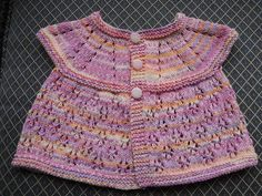Ravelry: Project Gallery for All-In-One Sleeveless Baby Top (6 months) & (9 - 12 months) pattern by marianna mel