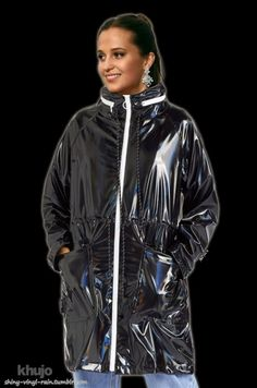 Vinyl Raincoat, Adidas Jacket, Athletic, Black, Fashion, Accessories, Black Rain Jacket, Jackets, Moda