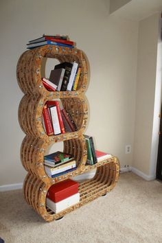 Bookshelf Inspired By The Caterpillar Character From Alice In Wonderland.
