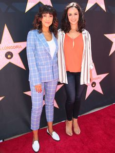hollywood stars Stephanie Beatriz Photos - Melissa Fumero and Stephanie Beatriz are seen attending at the Eva Longoria's Hollywood Star Ceremony Post-Luncheon in Los Angeles, California. Old Hollywood Movies, Old Hollywood Stars, Hollywood Walk Of Fame, Hollywood Glamour, Classic Hollywood, Eva Longoria, Brooklyn Nine Nine Funny, Jake And Amy, Kathy Griffin