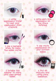Best Korean Makeup Tutorials - Beuberry Teddy Bear Pink Circle Lenses I Kawaii Makeup Tutorial - Natural Step By Step Tutorials For Ulzzang, Pony, Puppy Eyes, Eyeshadows, Kpop, Eyebrows, Eyeliner and even Hairstyles. Super Cute DIY And Easy Contouring, Foundation, and Simple Dewy Skin Help For Beginners - https://www.thegoddess.com/best-korean-makeup-tutorials