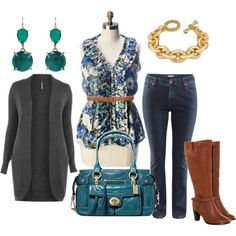 """Fall Color - Plus Size"" by alexawebb on Polyvore (I wouldn't do the belt, but that's just me)"