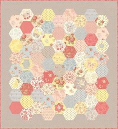 Hexies!!! :D <3 <3 <3 {by Moda} ~ I REALLY want to make a quilt like this!
