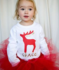 cute Christmas outfit for little girls