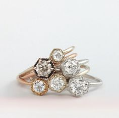 A ravishing pile of love and light. Satomi Hexagon at catbirdnyc.com
