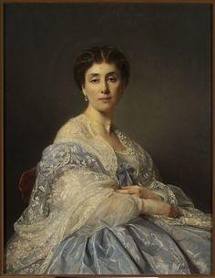 1862 Józef Simmler - Portrait of Aleksandra Zatlerowa