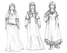 Dwarf girls. So they don't spring up out of holes in the ground. I love these designs.