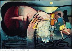Paintings - Charles Blackman - Page 21 - Australian Art Auction Records Australian Painting, Australian Artists, Alice In Wonderland Series, Arthur Boyd, Berlin, Edward Burne Jones, Bird Party, Blue Horse, Art Database
