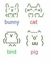 draw with keyboard symbols UPDATE I just made a few keyboard animals. If you want . Plus - Art - draw with keyboard symbols UPDATE I just made a few keyboard animals. If you want … Plu - Cute Texts, Funny Texts, Funny Text Pictures, Funny Pics, Keyboard Symbols, Weird Text, Sms Language, Ascii Art, Smileys