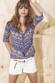 Blouse, Tops, Women, Fashion, Summer Time, Moda, Fashion Styles, Blouses, Fashion Illustrations