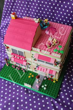 Lego Friends Beach Cake I Made Cakes Pinterest Lego