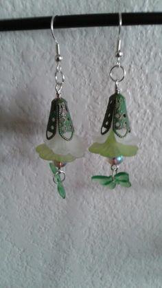 Butterfly earrings green