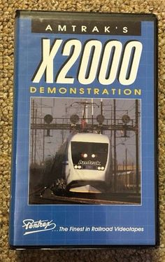 Amtrak X200 Demonstration VHS Pentrex Train Hobby Collector Tape Northeast