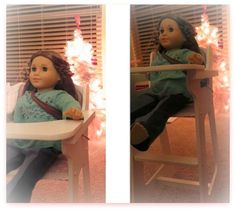 Doll High Chair by One Step Ahead – Adorable Gift Idea from @OneStepAhead - Fits American Girl Dolls and More!