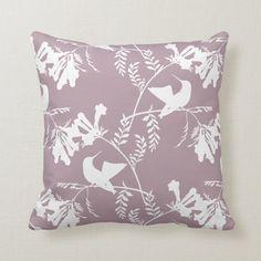 Mauve and White Hummingbird Pattern Throw Pillow | Zazzle.com Purple Throw Pillows, Blue Home Decor, Aquamarine Blue, Decorative Cushions, Shades Of Purple, Custom Pillows, Home Decor Accessories, Blue Backgrounds, Home Decor Inspiration