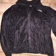 North face black fleece jacket Black fleece zip up jacket North Face Jackets & Coats